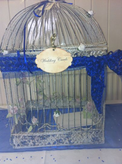 Large vintage birdcage postbox
