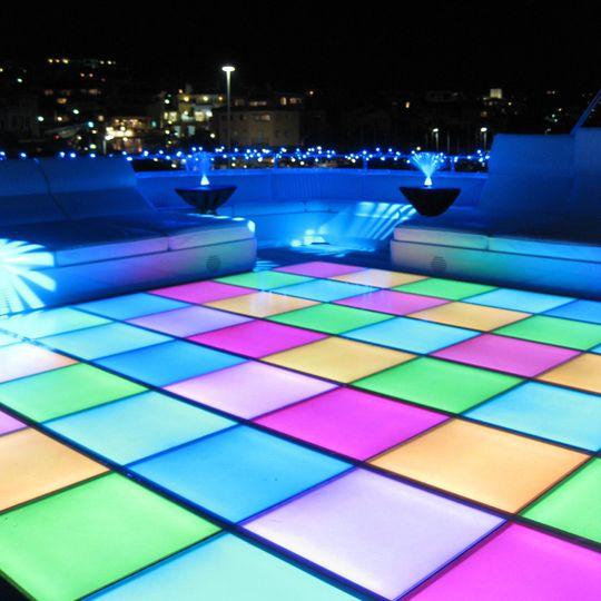 Illuminated disco dance floor