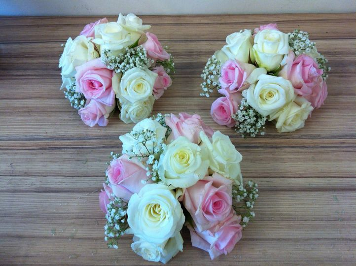 Pink,white and Gyp bouquet