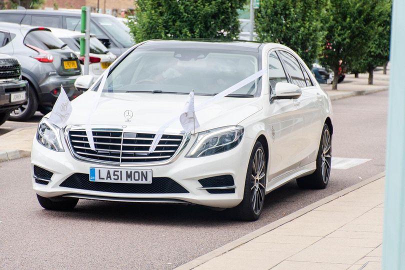 Wedding car in Essex