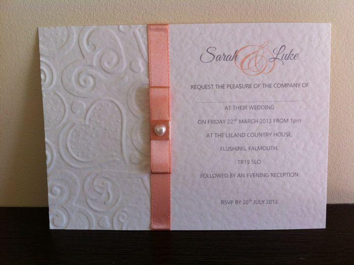 Wedding postcard invite