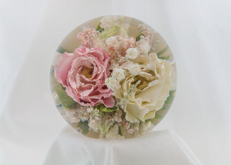 Vintage floral paperweight