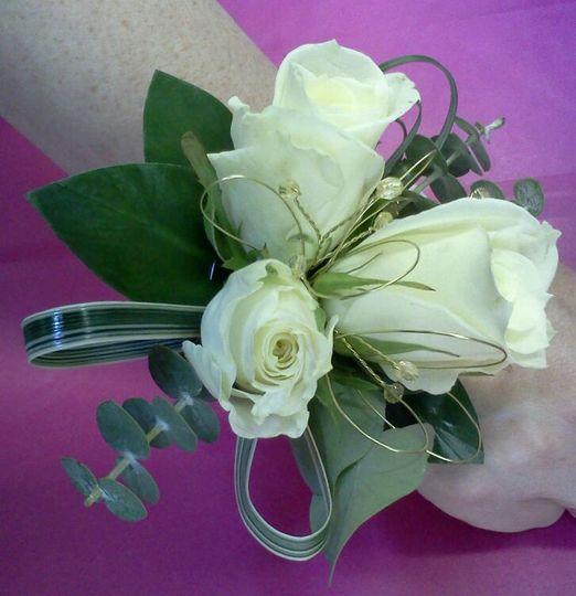 Cream Rose Wrist Corsage