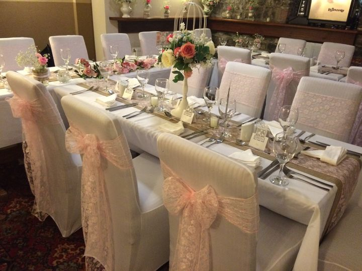 Chair covers, table runners