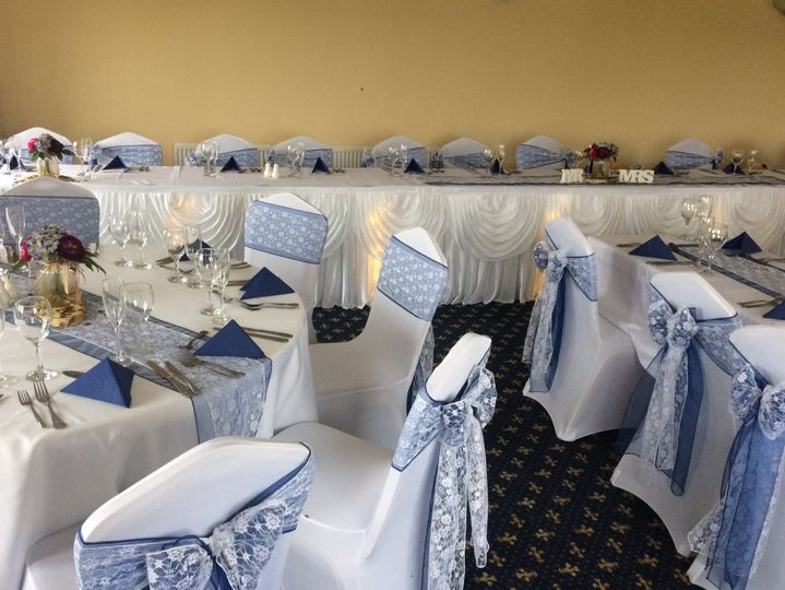 Chair covers, table skirts