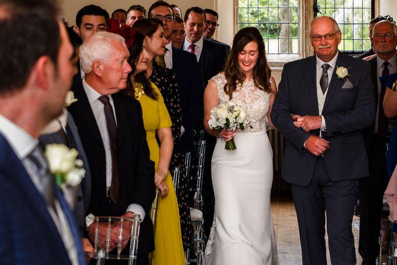 Brides arrival Notley Abbey