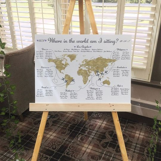 Travel-themed Table Plan