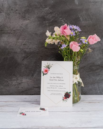Floral Geometric Invitation