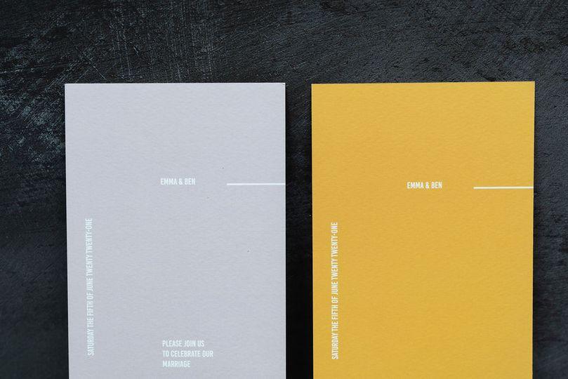 Minimal Bookmark Invitations