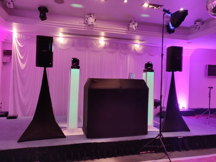 Modern DJ booth
