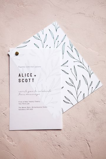Semi custom wedding stationery