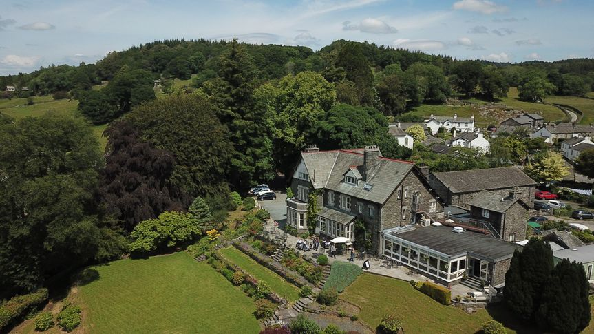 Aerial view of Sawrey House