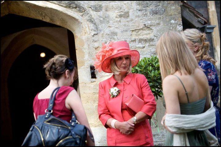 Coral Hat & matching Bag