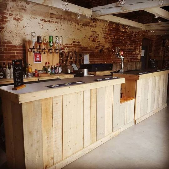 Rustic and refined mobile bar