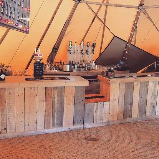 Fully-stocked bar