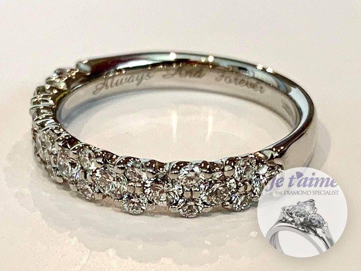 Diamond Flower Wedding Ring
