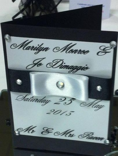 Personalised table number