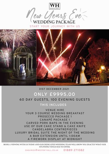 NEW YEARS EVE WEDDING OFFER