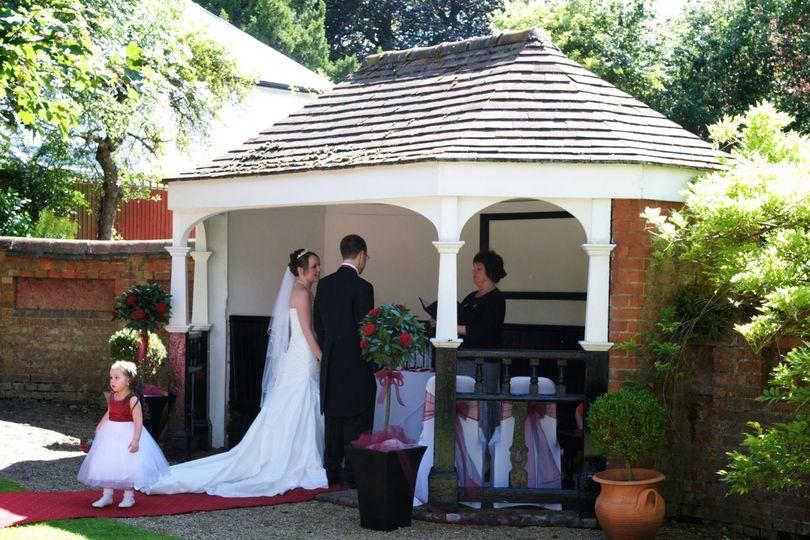 Wedding in hotel grounds