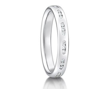Platinum & Diamond Set Wedding Ring