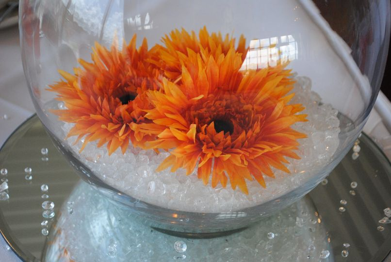 Goldfish bowl centrepiece