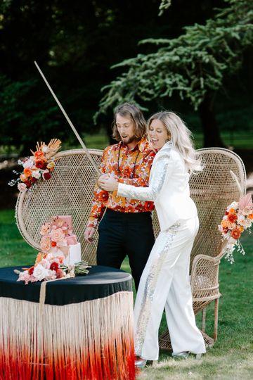 Glam-rock wedding
