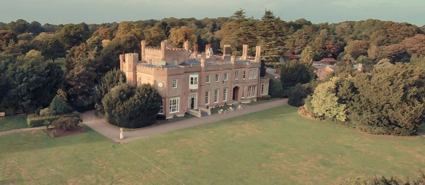 Aerial view of Nonsuch Mansion