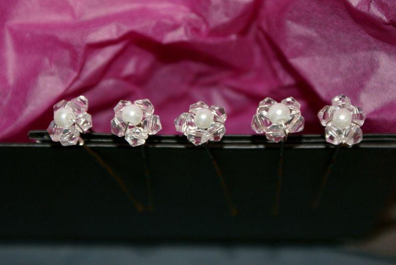Swarovski Crystal and Pearl Hair Pins