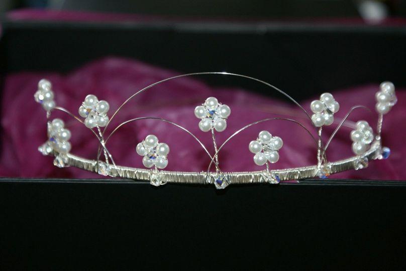 Swarovski Crystal and Pearl Traditional Tiara