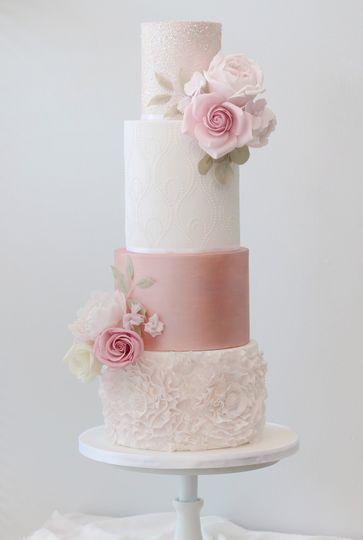 pink rose gold wedding cake 4 167331 159298903323013