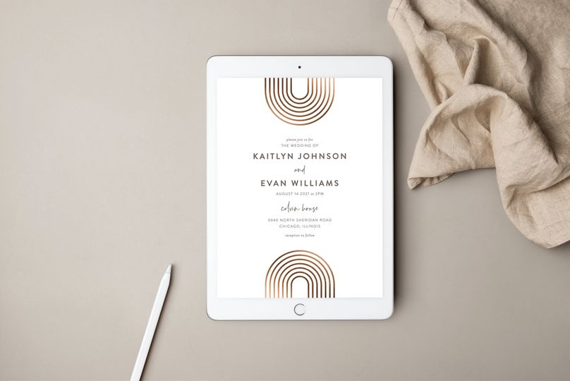Print-it-yourself wedding invitation