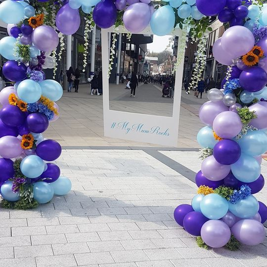 Balloon Arch with Selfie Frame