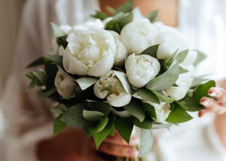 White Peony Rose Bouquet