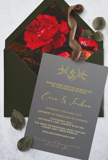 Floral Tattoo Inspired Invite