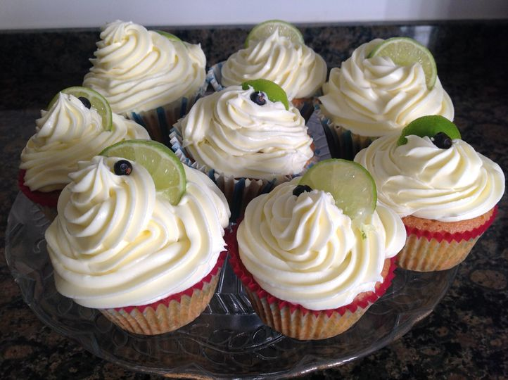Gin and tonic cup cakes