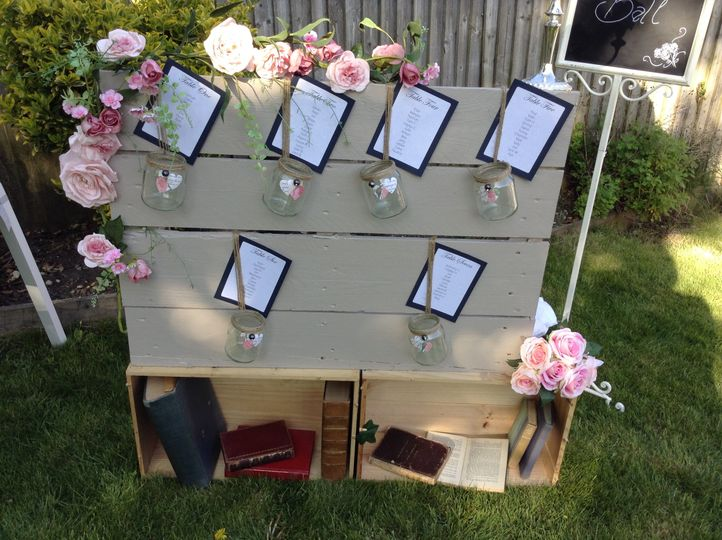 Rustic table planner