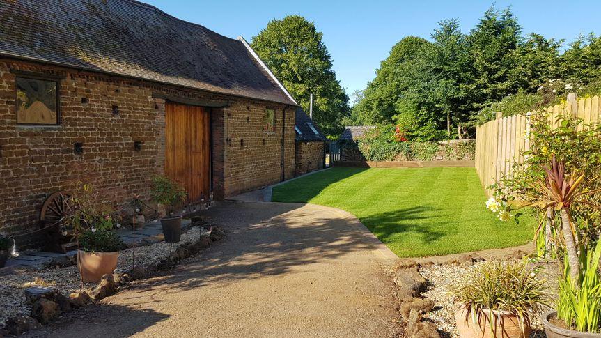 Dovecote Barn entrance.
