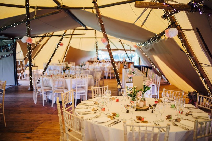 Tipi wedding breakfast