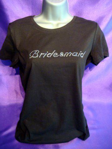 Swarovski Crystal Bridesmaid T-shirt