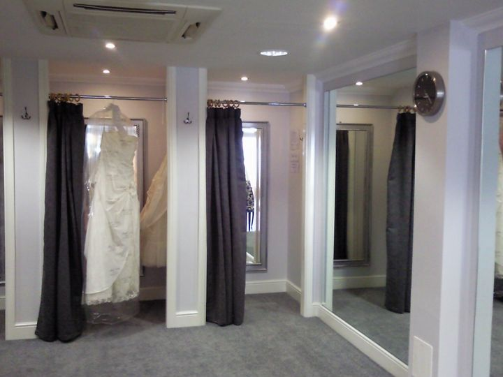 Part of the changing rooms