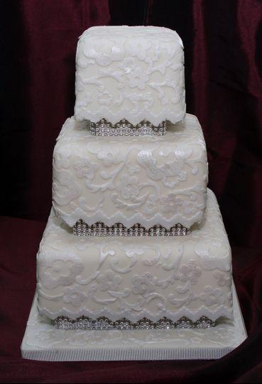 Bridal Lace Wedding Cake