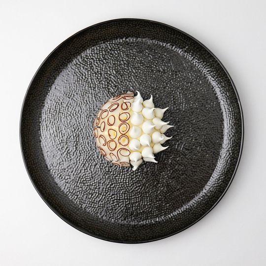 Coconut and pineapple bavarois