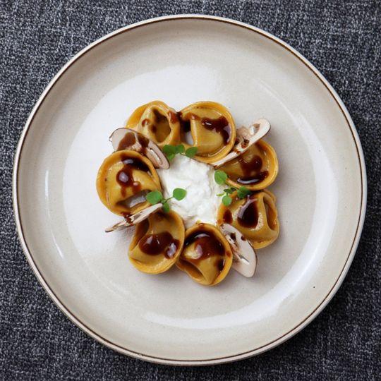 Mushroom and mascarpone ravioli
