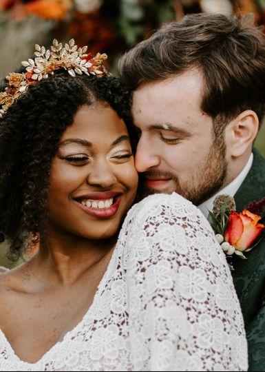 Autumn intimate wedding