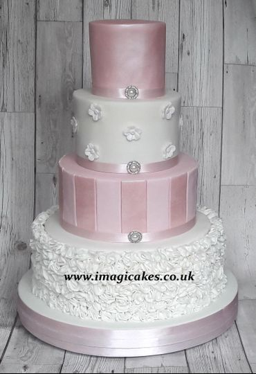 Pink lustre and ruffles