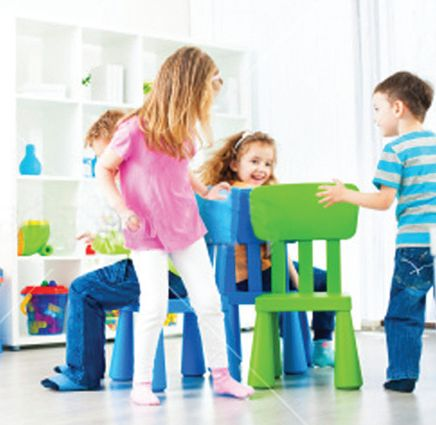 Fun and games in creche