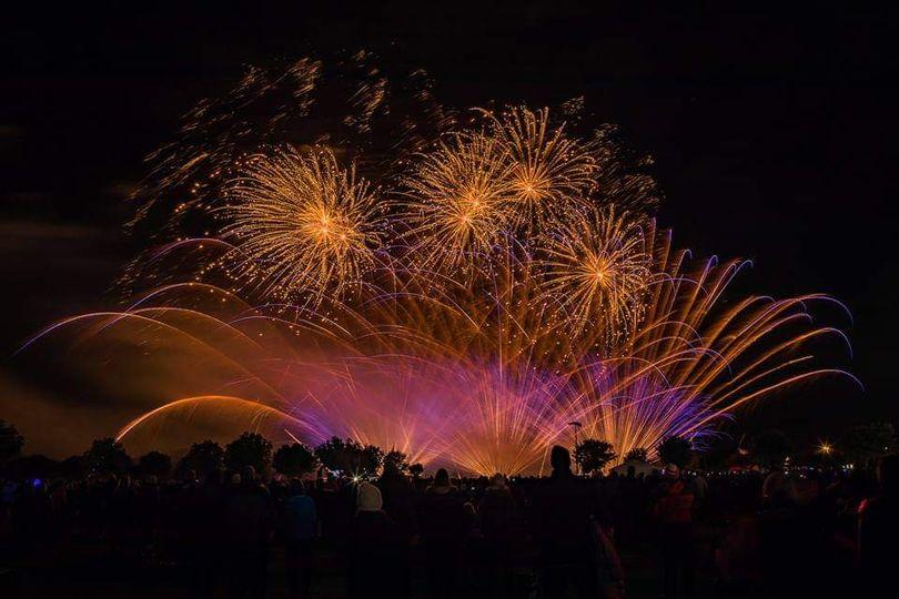 UK wedding fireworks