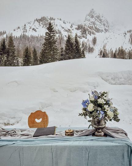 Mountain Wedding in the Snow