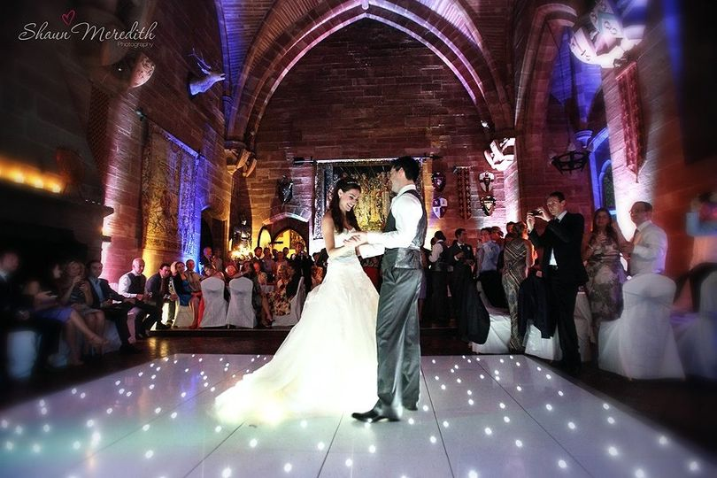 white twinkling dance floor hire in cheshire 4 107406