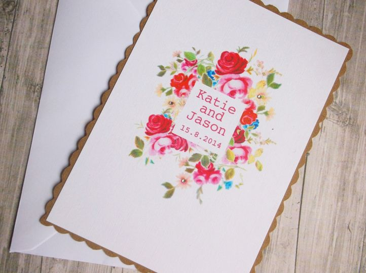 Shabby chic floral invite